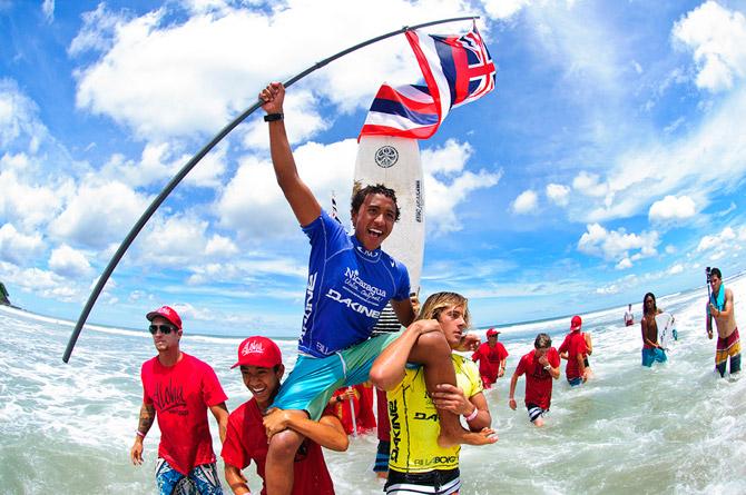 Josh Moniz fron Hawaii. Credit: ISA/ Rommel Gonzales
