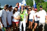 Team Panama and ISA President Fernando Aguerre. Credit: Michael Tweddle