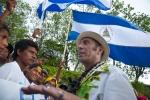 Team Nicaragua and ISA President Fernando Aguerre. Credit: ISA/ Rommel Gonzales