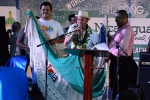 Tola City Present to ISA President Fernando Aguerre. Credit: Michael Tweddle