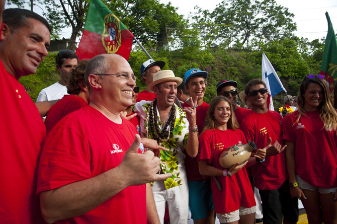 Team Portugal. Credit: ISA/ Rommel Gonzales