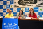 ISA President Fernando Aguerre, Mayra Salinas and Lucy Valenti. Credit: ISA/ Michael Tweddle