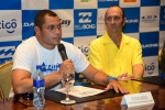 Dexter Ramirez and ISA President Fernando Aguerre. Credit: ISA/ Michael Tweddle
