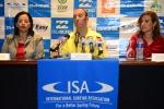 Mayra Salinas, ISA President Fernando Aguerre and Lucy Valenti. Credit: ISA/ Michael Tweddle