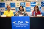 ISA President Fernando Aguerre , Mayra Salinas and Lucy Valenti. Credit: ISA/ Michael Tweddle